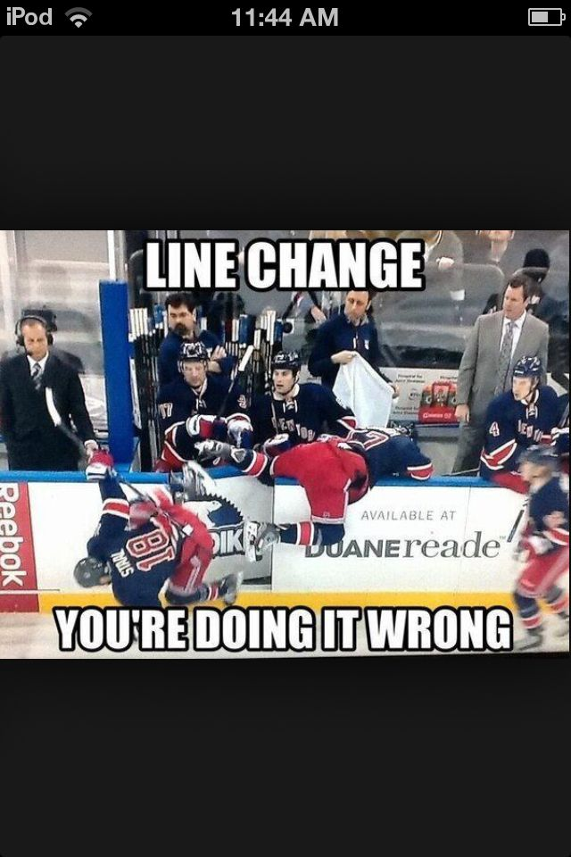 The New York Rangers look like a hot mess on this line change. LOL! Marc Staal. NHL Hockey.