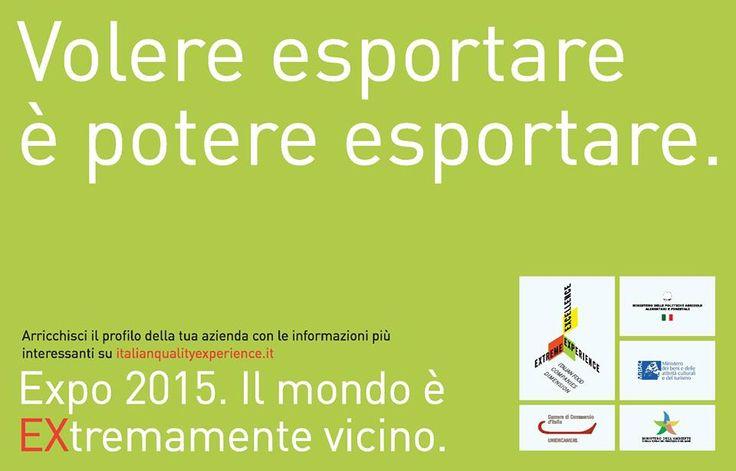 Sei un'azienda agroalimentare del made in Italy?Sogni l'export dei tuoi prodotti? Registrati su www.italianqualityexperience.it e aggiorna la tua vetrina con tutte le informazioni utili per promuovere la tua impresa!