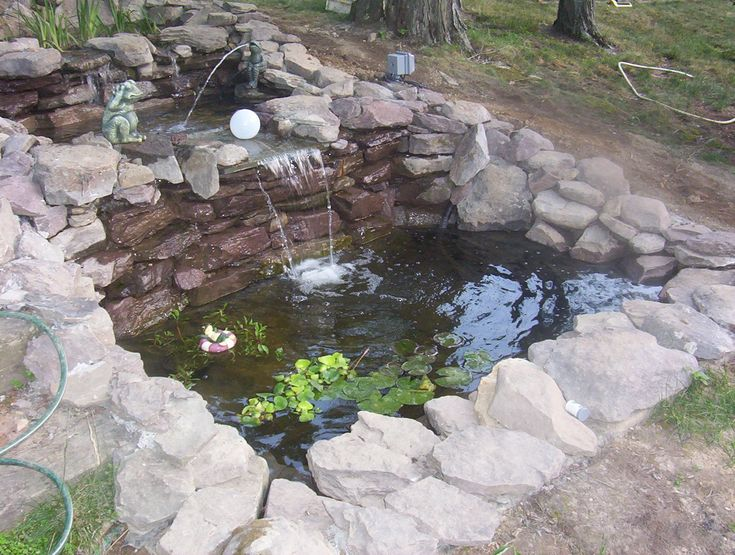 110 best koi pond images on pinterest backyard ponds for Garden pond design and construction