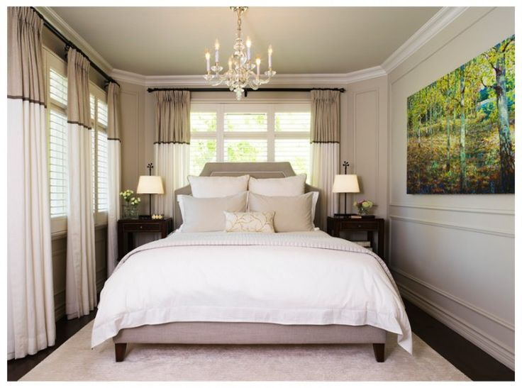 Cozy Bedroom like the curtains. Could us ready made and modify