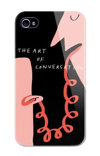 The Art of Conversation by Merchesico phone case illustration
