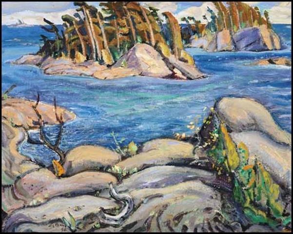 Small Islands, Georgian Bay Arthur Lismer, The Group of Seven. Canada