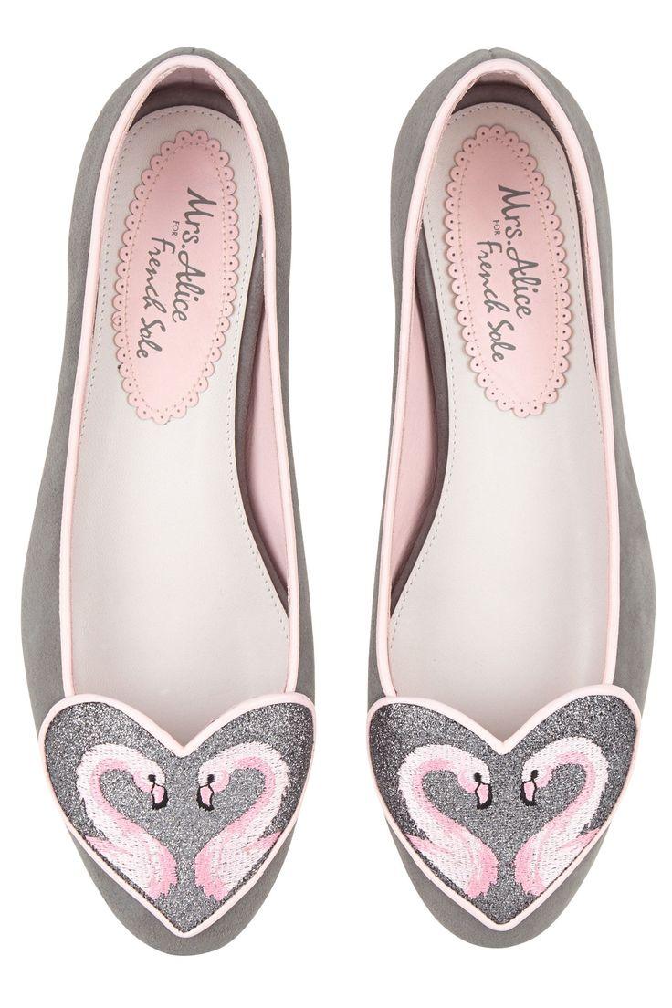 Flamingo heart slippers, £195, Mrs Alice for French Sole - HarpersBAZAAR.co.uk