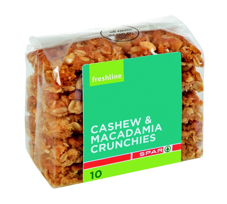 Cashew and macadamia crunchies