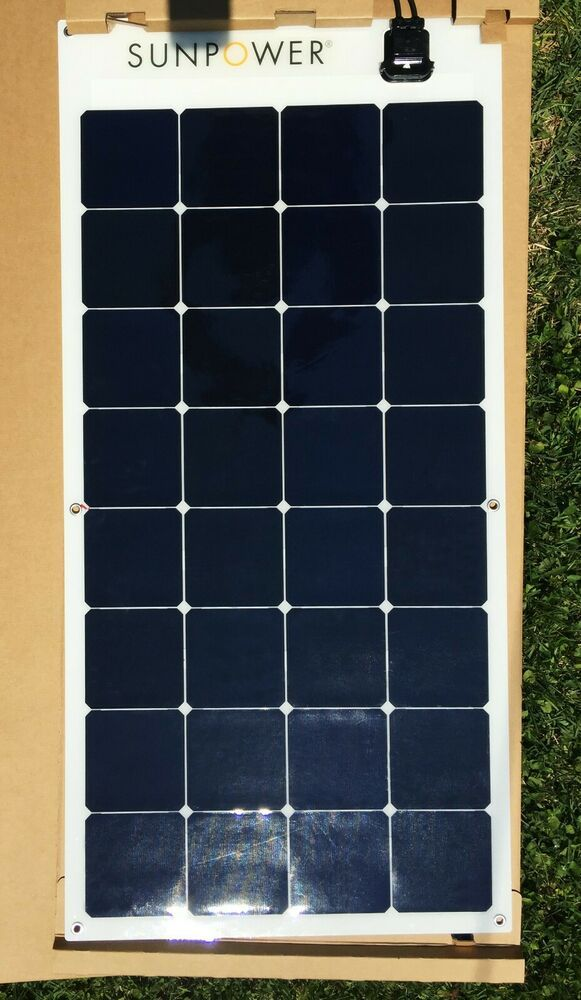 Sunpower Authentication 100 Watt Flexible Solar Panel E Flex 100 Premium Sunpower With Images Flexible Solar Panels Solar Panels Solar