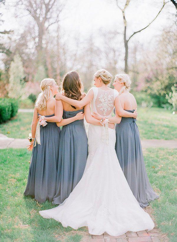 Formal wedding bridal party