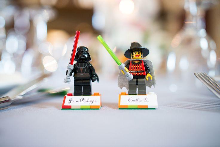le #marque-place en #lego est une jolie idée pour un mariage geek chic