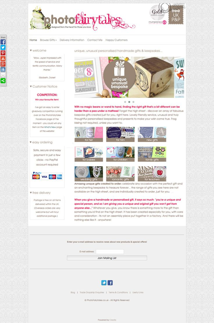Photo Fairy Tales website using the Boutique template. Great #responsive #website http://www.photofairytales.co.uk/