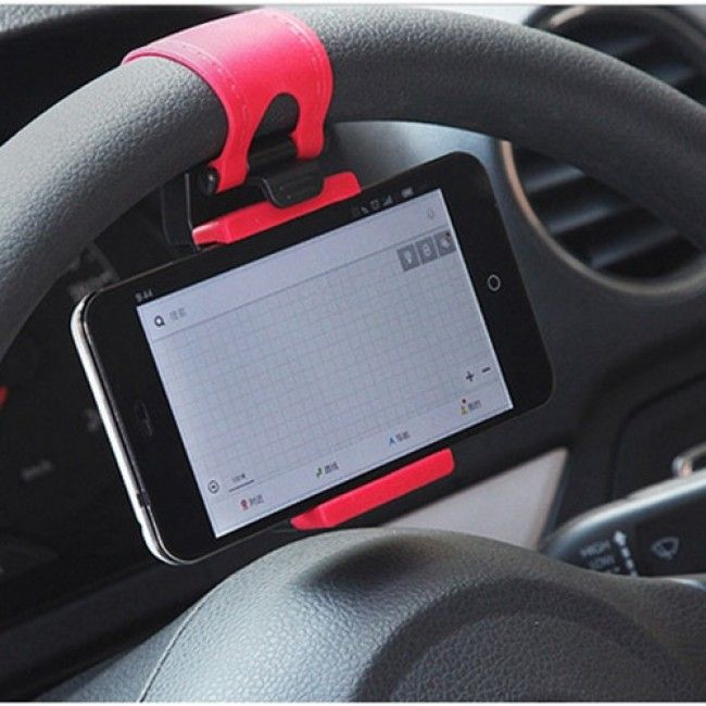 Universal Steering Wheel Cell Phone Car Mount Holder