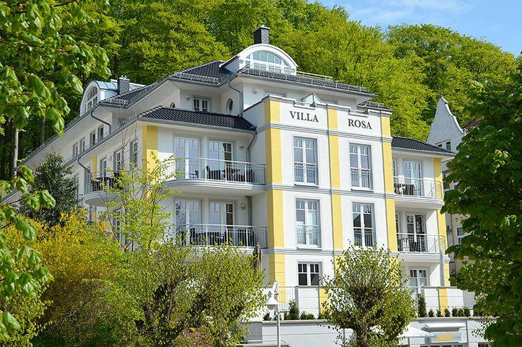 Die Villa Rosa im Ostseebad Sellin auf Rügen.