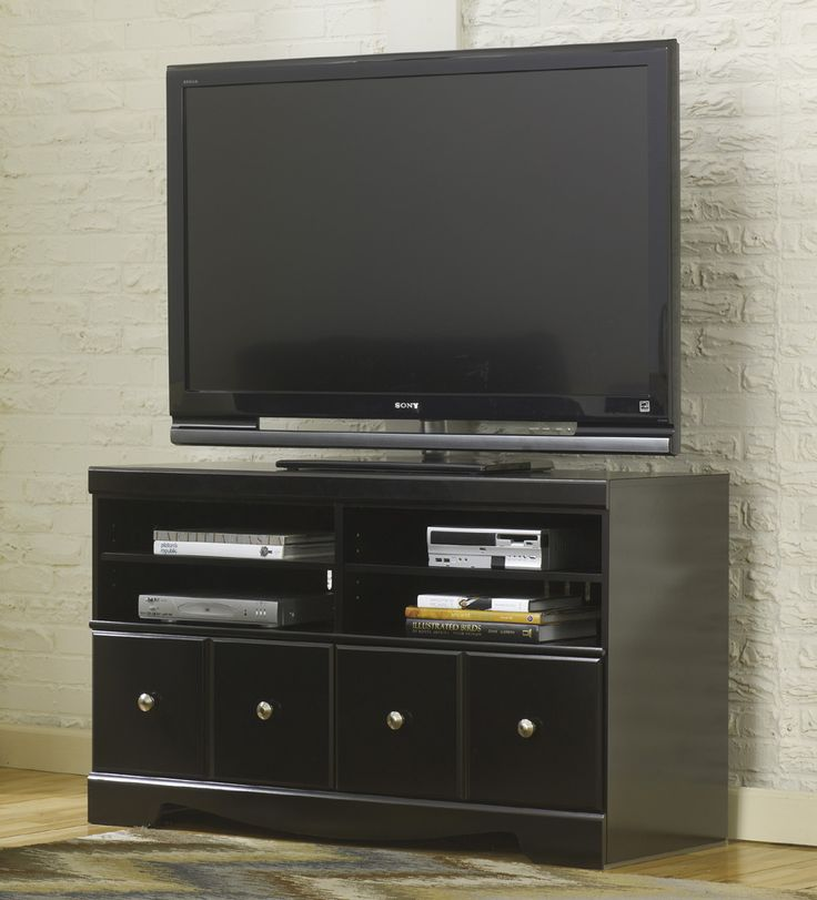 """50"""" and 60"""" TV stand are available in the 'Shay' collection! The 50"""" stand is a true hot buy; it's only $199 and it's FULLY ASSEMBLED"""