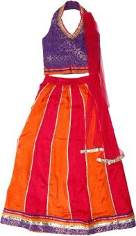 Twisha Self Design Girl's Ghagra, Choli, Dupatta Set