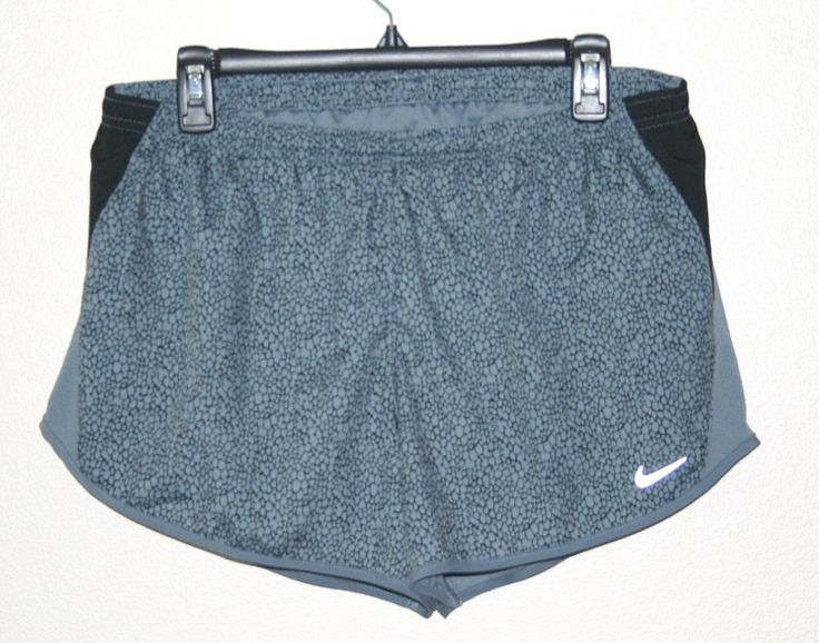 NEW WOMENS DRI-FIT RUNNING JOGGING SHORTS SIZE LARGE GRAY $35 NWT #Nike #Athletic