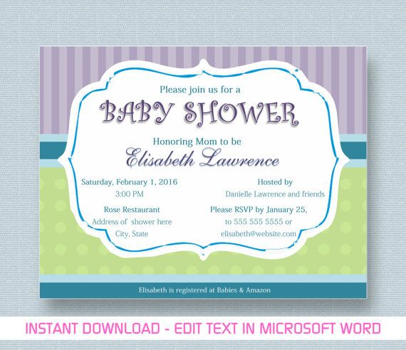 54 best My Print Studio images on Pinterest Baby shower - baby shower invitation templates for microsoft word