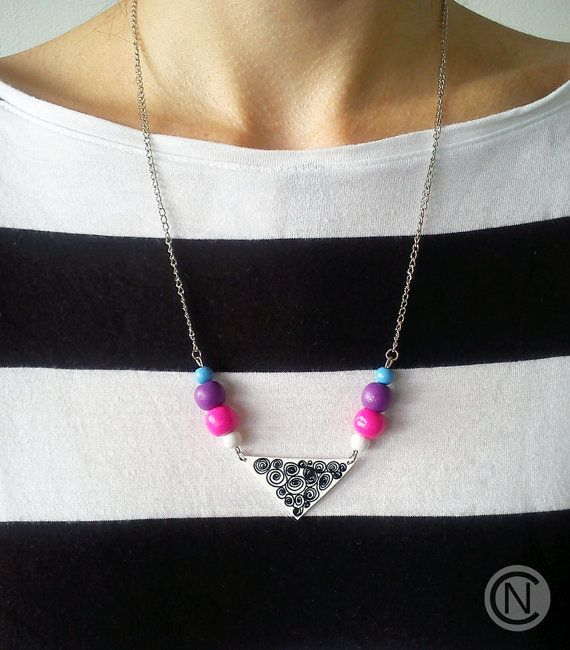 Handmade necklace with shrink plastic pendant and by NinaCamisi