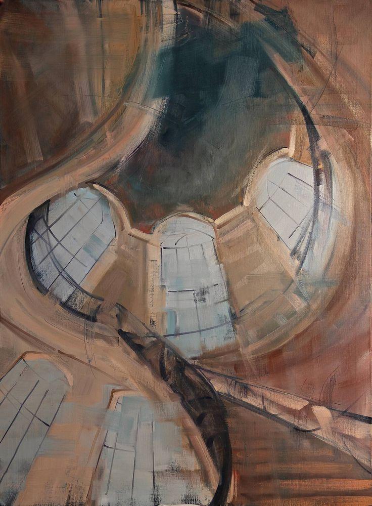 "Saatchi Art Artist: Fanny Nushka Moreaux; Oil 2014 Painting ""Rome Interior, 2014"""