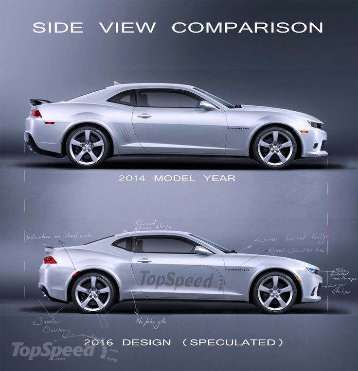2014 15 v 2016 chevrolet camaro side view comparison which one do you like better. Black Bedroom Furniture Sets. Home Design Ideas