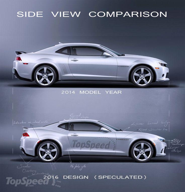 2014 15 V 2016 Chevrolet Camaro Side View Comparison