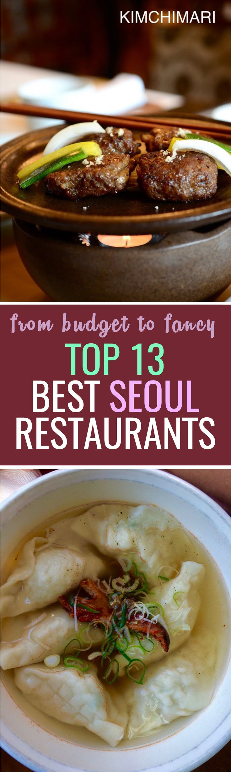 Are you traveling to Seoul this year? Here is a list of my favourite restaurants that are recommended by the Micheline food guide !