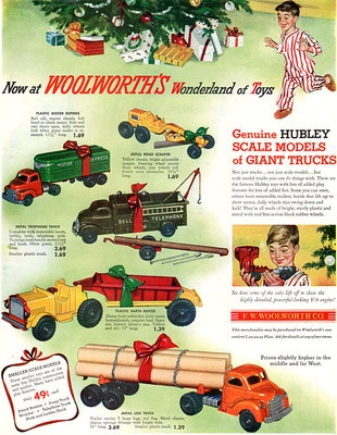 Hubley Giant Trucks Woolworth Road Scraper Telephone Truck Earth Mover 1952 Ad | eBay