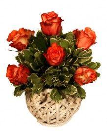 Cosuri de flori Cos cu 11 trandafiri