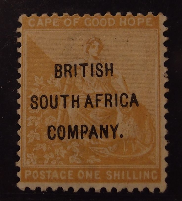 British South Africa Company one shilling ochre