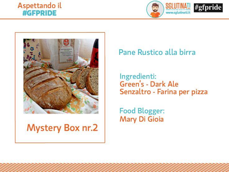 Aspettando il #gfpride Mystery Box nr.2 Cosa avrà realizzato Mary Di Gioia con la Birre Green's e la farina Senzaltro Prodotti Senza Glutine?! Pane Rustico alla Birra! http://sglutinati.it/blog/aspettandoilgfpridemysterybox2/