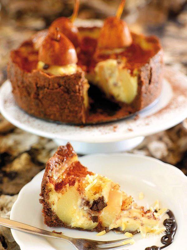 La Torta alle pere, cacao e pinoli è un dessert dagli ingredienti genuini, con tutto il gusto delle torte di un tempo. Ed è anche bello da vedere!