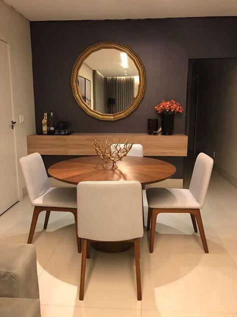 Espelho da sala de jantar: dicas sobre como usar +57 modelos para se inspirar   – SALA