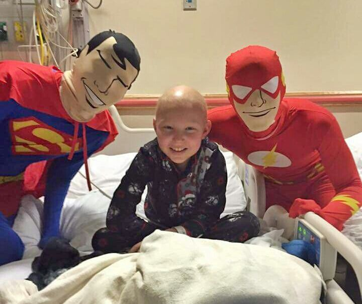 Childhood cancer warrior Ari gets a special visit from some Chai Lifeline Mid-Atlantic superheroes
