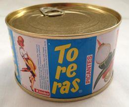TO-RE-RAS 400 Picantes 370 Gr. Banderilla compuesta por cebolla, pepino, aceituna, guindilla y pimiento. Presentada en palo de madera y enlatada.Las auténticas banderillas con sabor un poco picante para tus aperitivos.  Caja de 24 unidades.