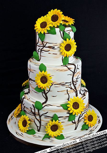 wedding cakes with sunflowers and roses 25 best ideas about sunflower cakes on 26125