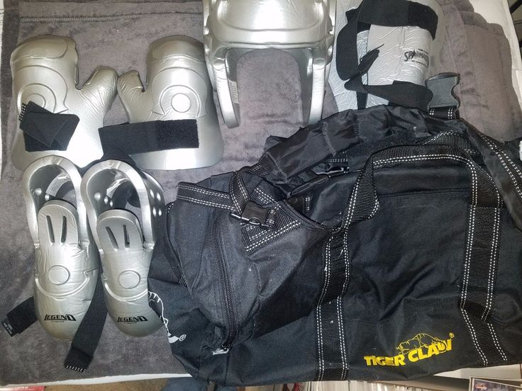 Taekwondo Kung Fu Karate Sparring Gear (Youth Medium) with Equipment Bag Silver