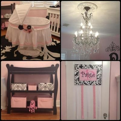 My Pink, Black, and White Damask Nursery idea came about because I wanted an elegant baby room fit for a princess!   What brand and color of paint did