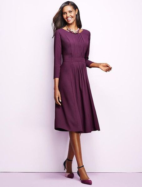 Modest Purple Petite Dress