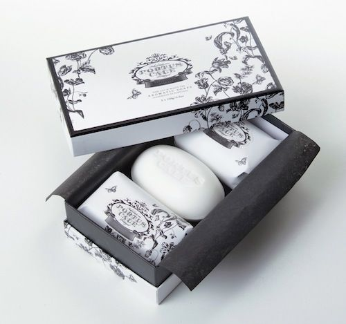 Portus Cale Floral Toile Three Piece Soap Set Made in Portugal   Distributed in Australia by Supertex