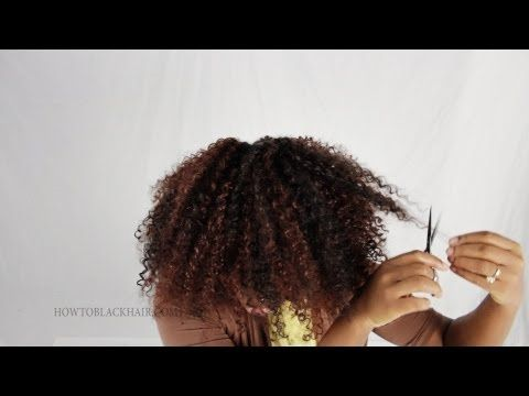 Crochet Hair Indianapolis : Crochet Braids Cutting and Styling Hair Weave Extensions Tutorial Part ...