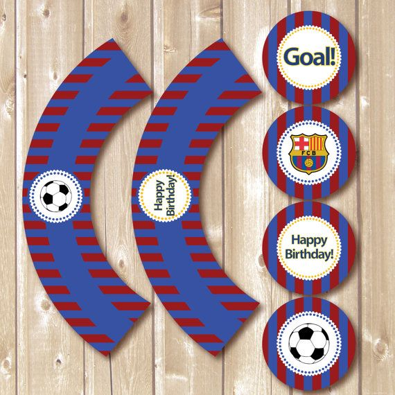 Barcelona printables. Barcelona toppers and wrappers. by Pipetua