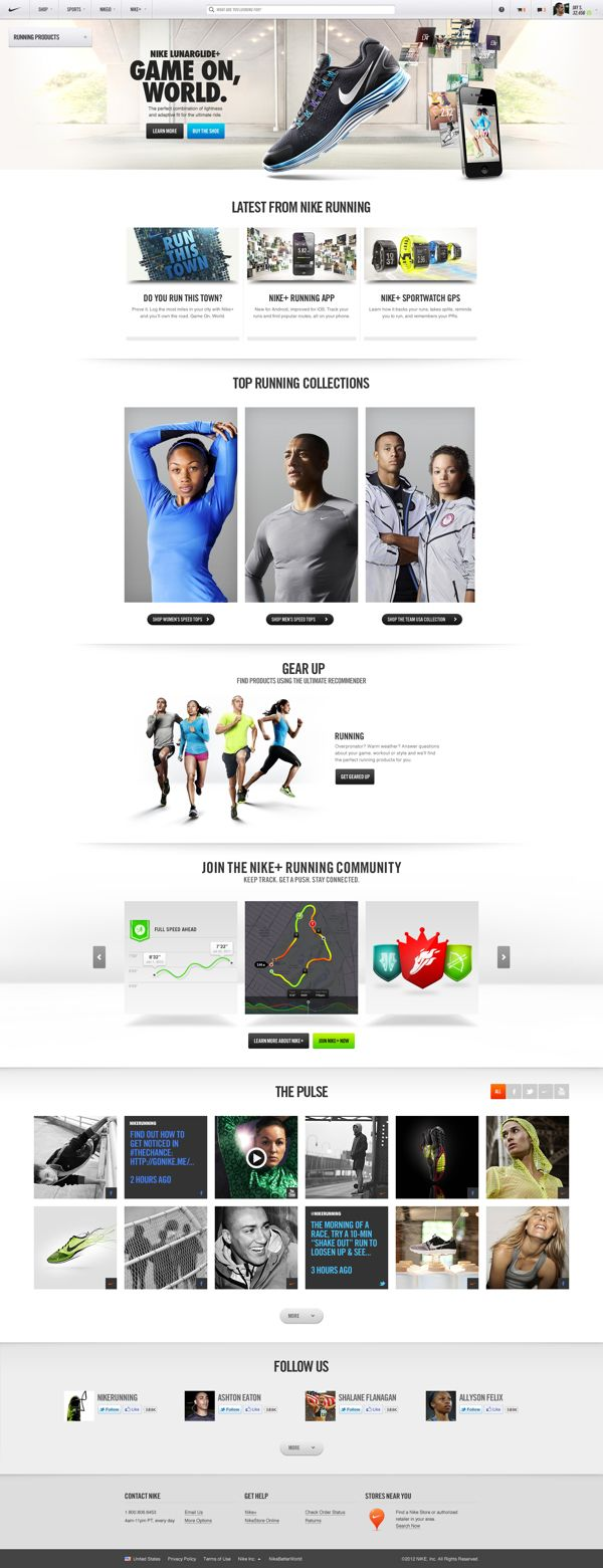 #Nike.com by Erik Herrström, via #Behance #Webdesign