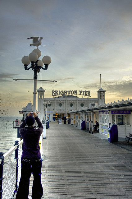 Piers - the promise of tea dances, fairs and fish and chips!! Brighton Pier