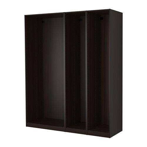 PAX 3x Korpus Kleiderschrank IKEA Die hierauf abgestimmte KOMPLEMENT Inneneinrichtung nutzt den Schrankraum optimal.