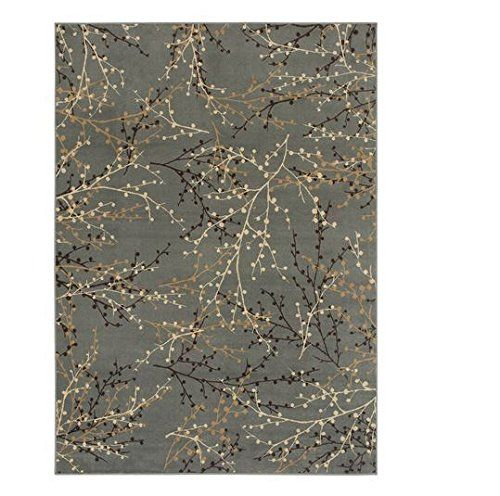 8x10 area rug Oriental Weavers of America Berries Blue Rectangular Indoor Woven Nature Area Rug (Common: 8 x 10; Actual: 94-in W x 130-in L) ABR40J7L
