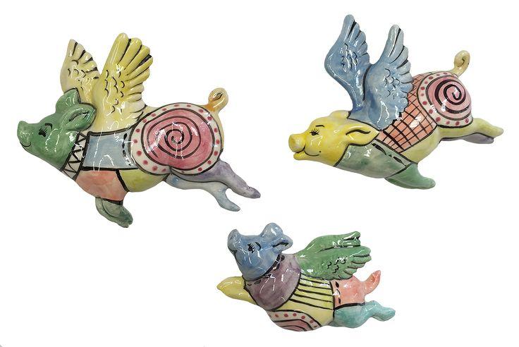 3 Gelato Patchwork Flying Pigs
