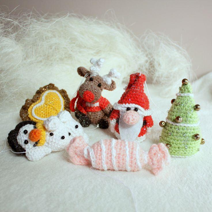Amigurumi christmas ornaments  #amigurumis #amigurumi #ornaments #christmas #xmas #choinka #święta #szydełkowe #crochet #mikołaj #santa #claus #santaclaus #reindeer #bomka #snowman #heart #candy #christmastree #cukierek #serce #bałwan #choinka #renifer #świętymikołaj