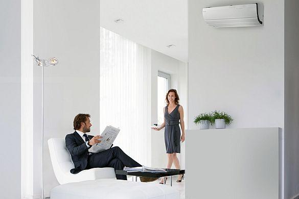 Ein Raumklima zum Wohlfühlen. Wärmepumpensysteme heizen, kühlen und belüften nach Bedarf. Zum Wohlbefinden in den eigenen vier Wänden trägt nicht nur die Wunschtemperatur, sondern insbesondere auch frische und saubere Luft bei. Fo...