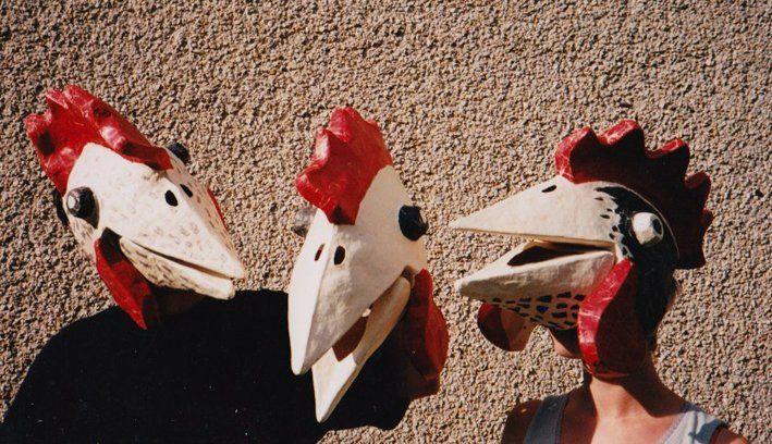 The Paper  Chicken Masks