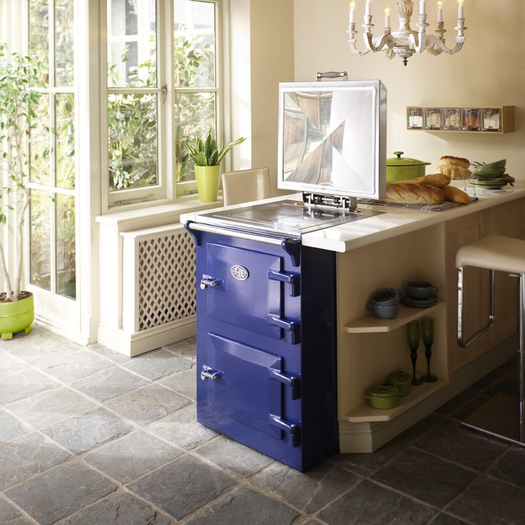 EVH60 Everhot Electric Range Cooker in Blue. Wow nice electric option. Would just fit in kitchen but woaaaa expensive.