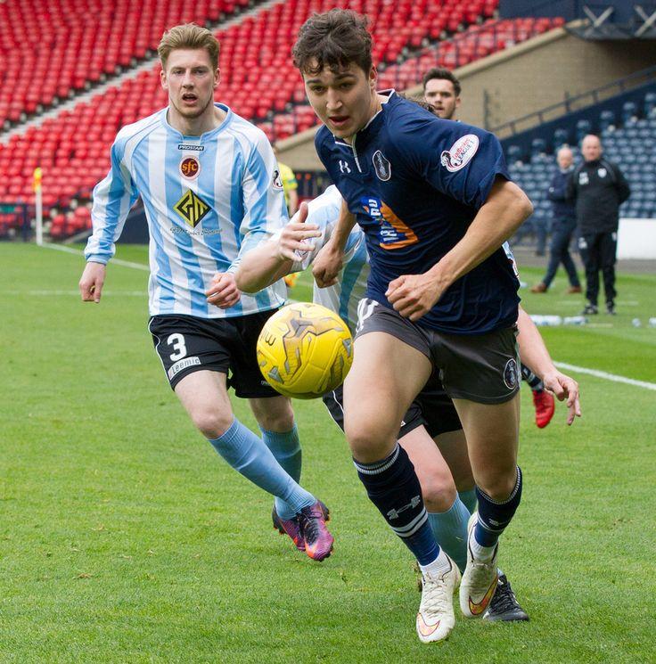Queen's Park's Dario Zanatta in action during the Ladbrokes League One game between Queen's Park and Stenhousemuir.