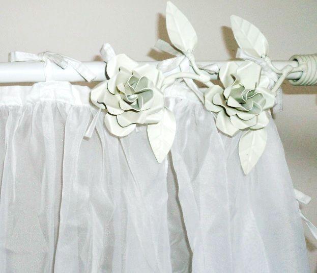 Ponteiras para cortinas, na combinação de cor de sua preferencia.: