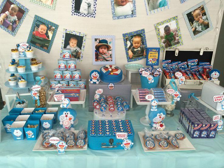 Doraemon Theme dessert table